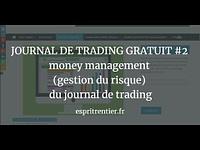 JOURNAL DE TRADING GRATUIT #2 money management (gestion du risque) du journal de trading 8