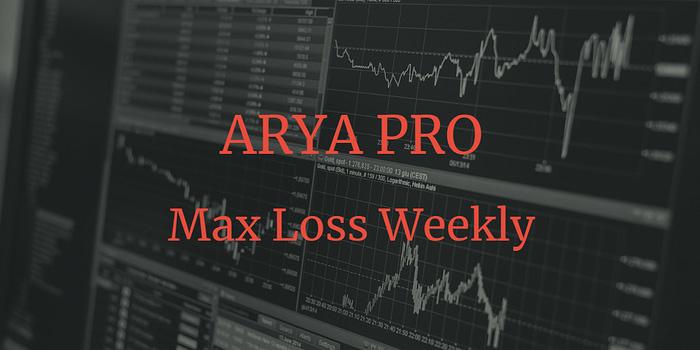 La fonctionnalité Max Loss Weekly d'ARYA PRO trading permet de définir le pourcentage de la perte max tolérée sur la semaine avant qu'ARYA PRO arrête de trader.